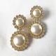 aro de perlas con clip vintage