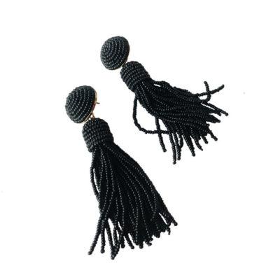 aros negros largos