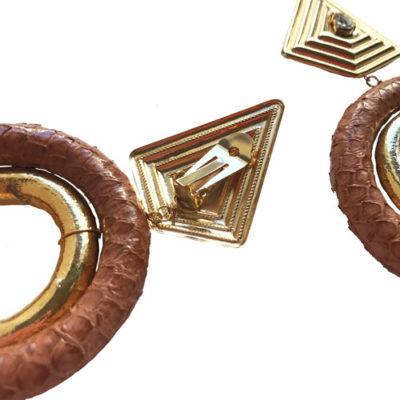 aros dorados con clip fahoma