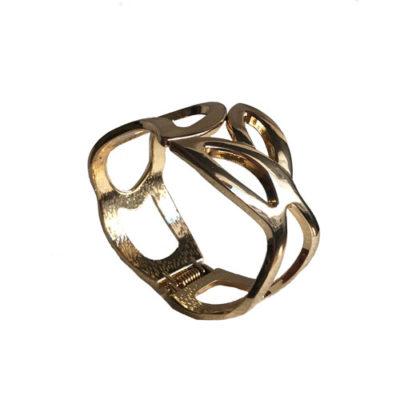 pulsera dorada rigida de metal
