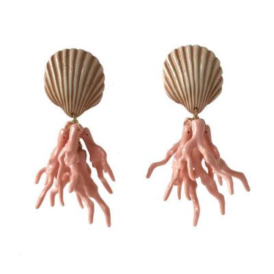 Aros corales rosa