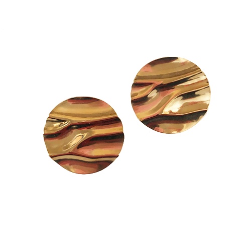 aro dorado de metal corto