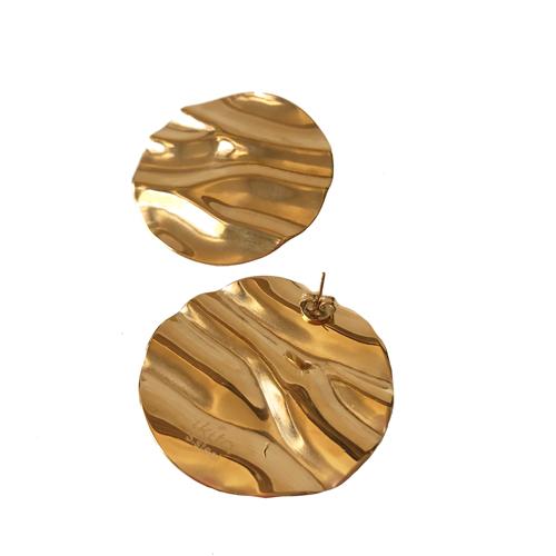 aro de metal dorado corto