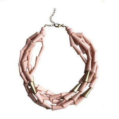 collar corto rosa