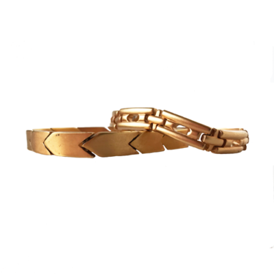 pulseras doradas opacos