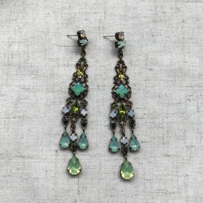 aros de cristal verde