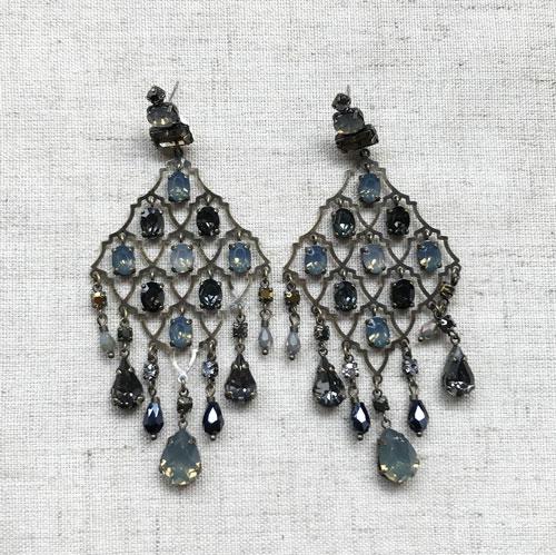aros de cristal azul