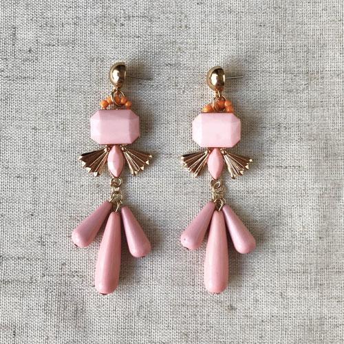 aros de resina rosa