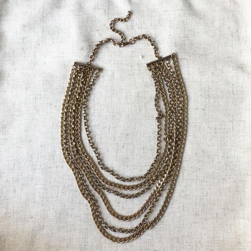 collar cadena dorada