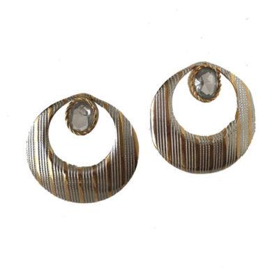 aros de metal plateados y dorados