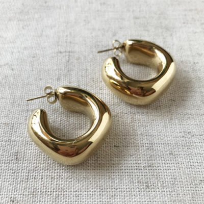 argollas doradas de metal