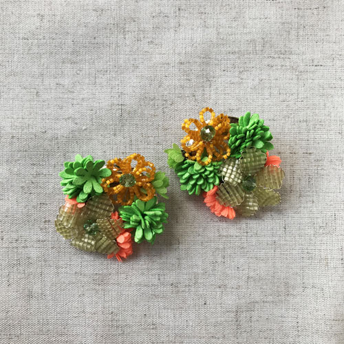 Aro verde y naranja