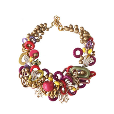 collar corto multi color