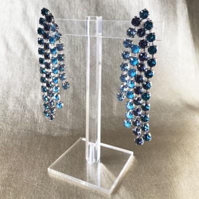 aro azul y turquesa de cristales