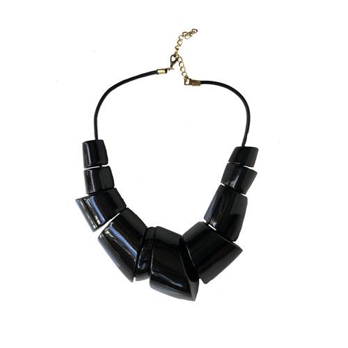 Maxi collar resina negra
