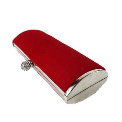 clutch bolso rojo de terciopelo