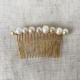 hebilla peineta de perlas