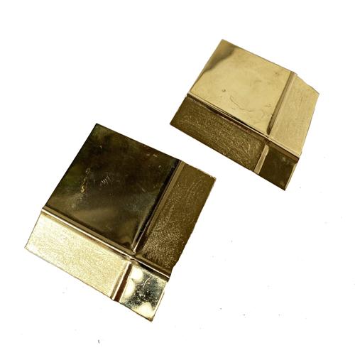 aros dorados cortos de clip