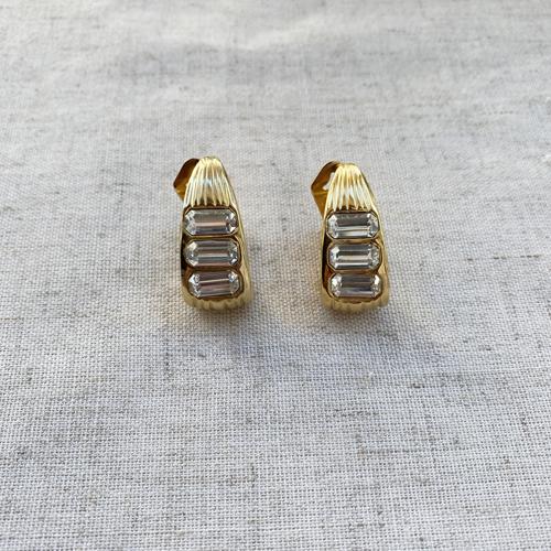argollas doradas de clip
