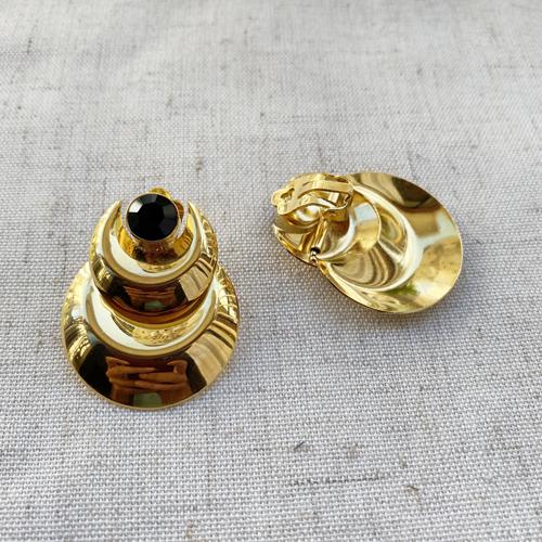 aros dorados de clip