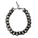 collar eslabones cadena negra