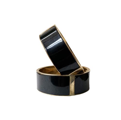 pulseras conjunto negro
