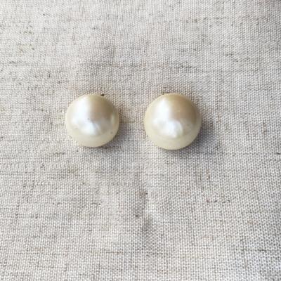 Aros clip de perla
