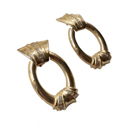 aros dorados vintage de clip