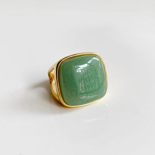 anillo curazo verde agua