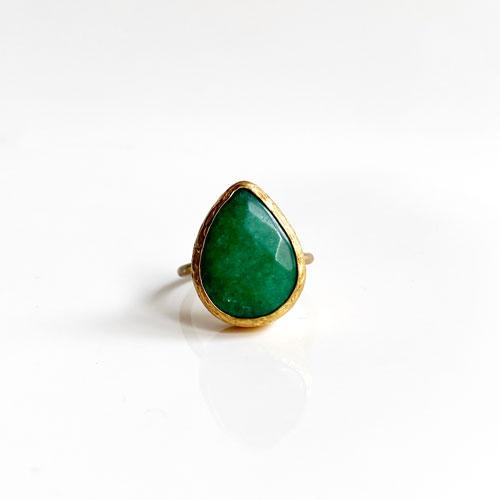 anillo aventurina verde