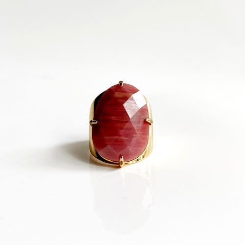 anillo piedra rodonita