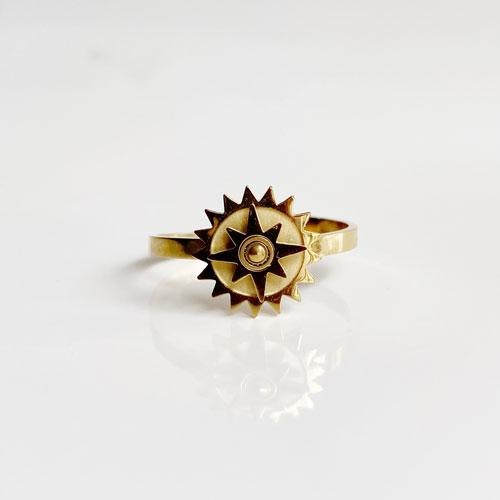 anillo dorado estrella