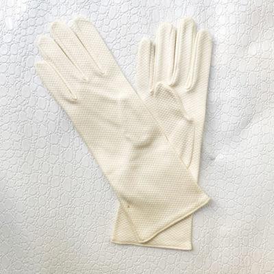 guantes blanco crema