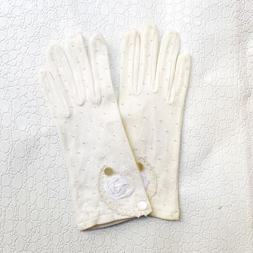 guantes con perlas