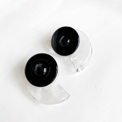 aros negros y transparente