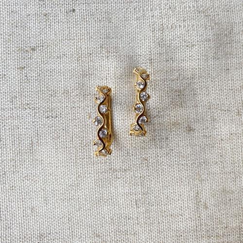 argollas doradas de con plata
