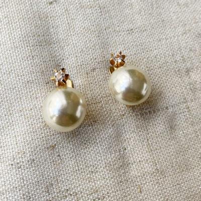 aros de perla y cristal