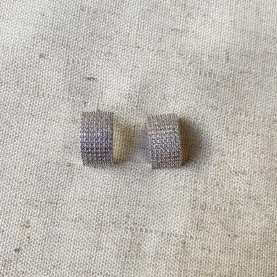 aros pequeños de plata y zircon
