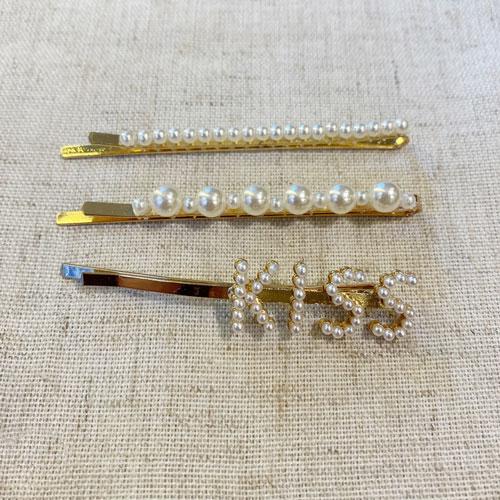 hebillas de perlas