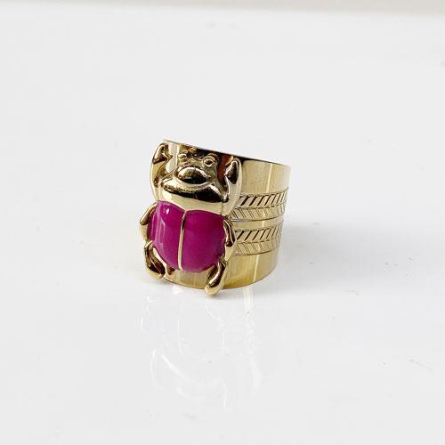 anillo escarabajo