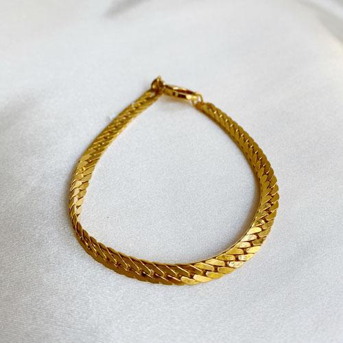 pulsera cadena dorada