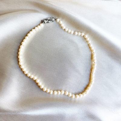 collar corto de perla