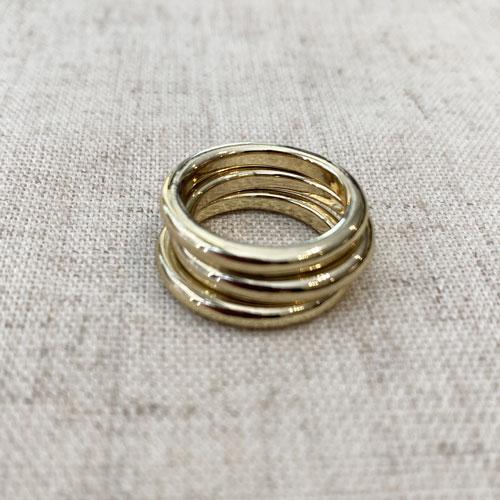 anillo triple dorado
