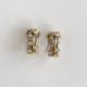 argollas doradas con clip
