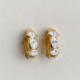 argollas de clip doradas