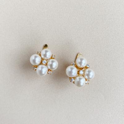 aros perlas y zircones
