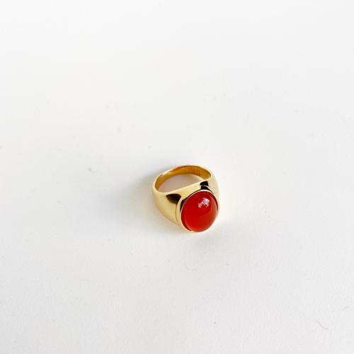 anillo cornalina