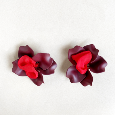 aros flor corto