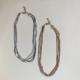 collar de cadena dorado y plateado