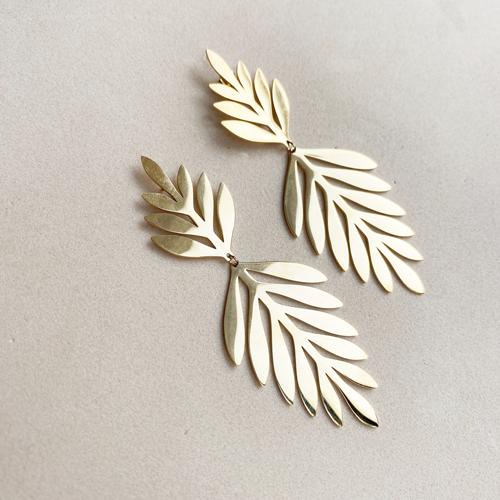 aros dorado de hojas